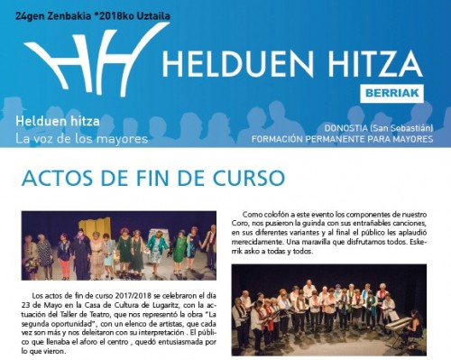 Revista HH Berriak nº 24 - julio 2018
