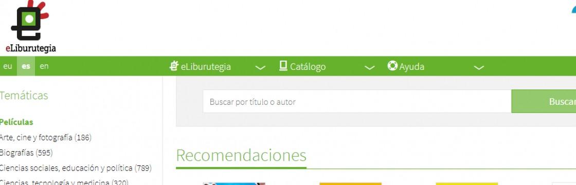 Euskadiko Irakurketa Publikoko Sarea. Irakurketa, zinea eta eduki digitalak online